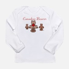 Canadian Beaver Long Sleeve Infant T-Shirt
