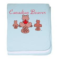 Canadian Beaver baby blanket