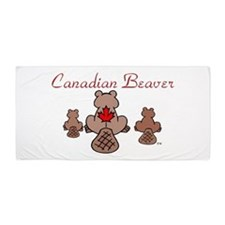 Canadian Beaver Beach Towel