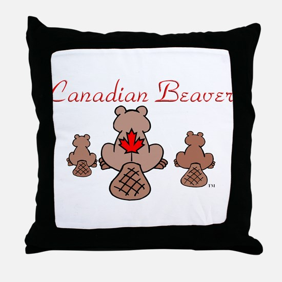 Canadian Beaver Throw Pillow