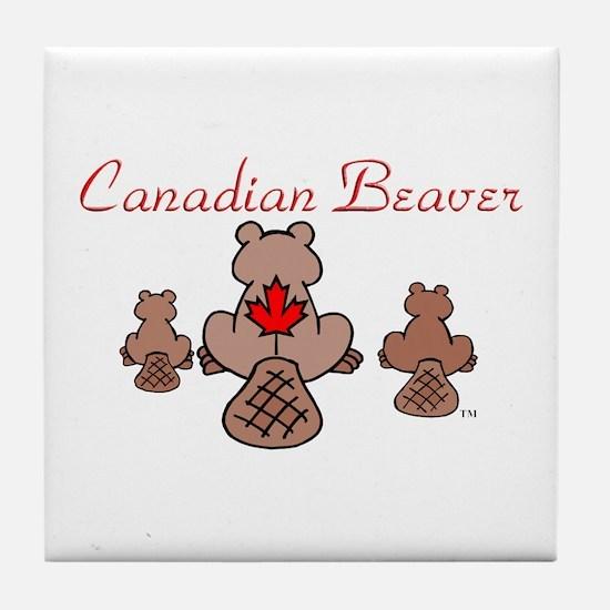 Canadian Beaver Tile Coaster