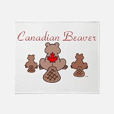 Canadian Beaver Throw Blanket