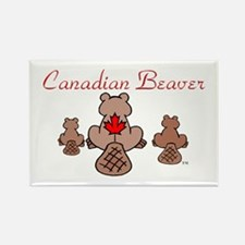 Canadian Beaver Rectangle Magnet