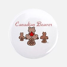 """Canadian Beaver 3.5"""" Button (100 pack)"""