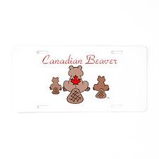 Canadian Beaver Aluminum License Plate