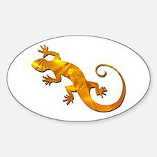 Golden Yellow Gecko Sticker (Oval)