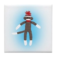 Super Sock Monkey Tile Coaster