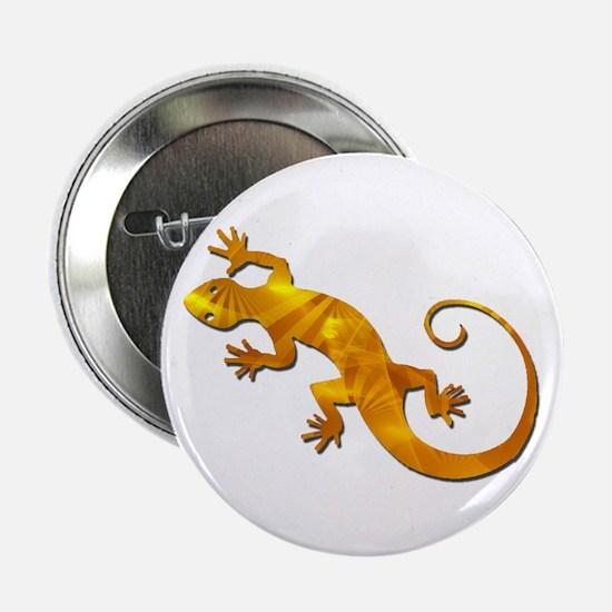 """Golden Yellow Gecko 2.25"""" Button"""