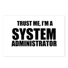 Trust Me, I'm A System Administrator Postcards (Pa