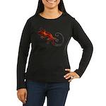 Fire Red Gecko Women's Long Sleeve Dark T-Shirt