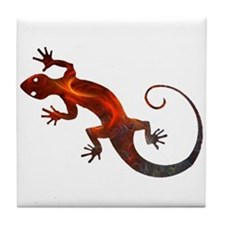Fire Red Gecko Tile Coaster