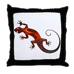 Fire Red Gecko Throw Pillow