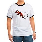 Fire Red Gecko Ringer T
