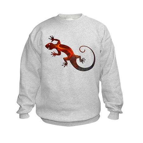 Fire Red Gecko Kids Sweatshirt