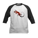 Fire Red Gecko Kids Baseball Jersey