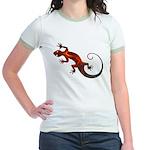 Fire Red Gecko Jr. Ringer T-Shirt