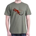 Fire Red Gecko Dark T-Shirt