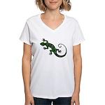 Ivy Green Gecko Women's V-Neck T-Shirt