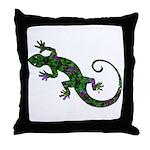 Ivy Green Gecko Throw Pillow