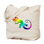 Rainbow Gecko Tote Bag