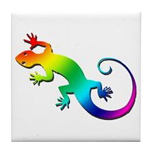 Rainbow Gecko Tile Coaster