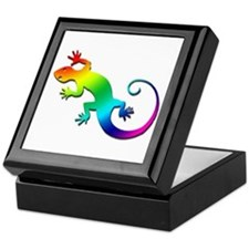 Rainbow Gecko Keepsake Box