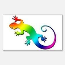 Rainbow Gecko Decal