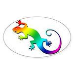 Rainbow Gecko Sticker (Oval)