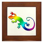 Rainbow Gecko Framed Tile