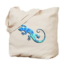 Malachite Blue Gecko Tote Bag