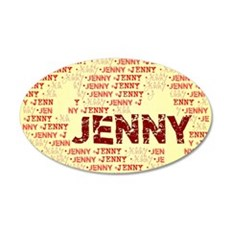 Made of words name JENNY Wall Decal
