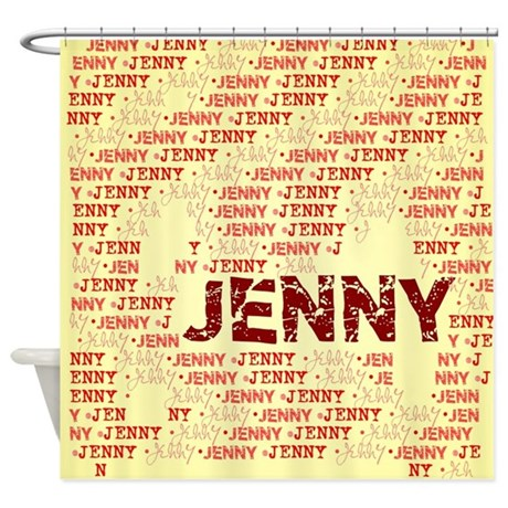 Made Of Words Name Jenny Shower Curtain By Impressivemoments