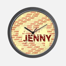 Made of words name JENNY Wall Clock