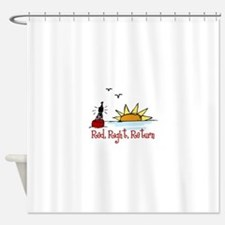 Red Right Shower Curtain