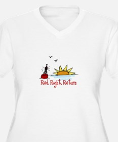 Red Right Plus Size T-Shirt