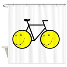 Happy Bike Shower Curtain