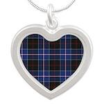 Tartan - Dunlop Silver Heart Necklace