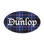 Tartan - Dunlop 35x21 Oval Wall Decal
