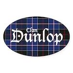 Tartan - Dunlop Sticker (Oval)