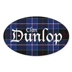 Tartan - Dunlop Sticker (Oval 10 pk)