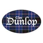 Tartan - Dunlop Sticker (Oval 50 pk)