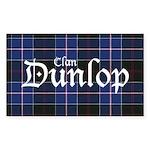 Tartan - Dunlop Sticker (Rectangle)