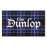 Tartan - Dunlop Sticker (Rectangle 50 pk)