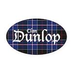 Tartan - Dunlop Oval Car Magnet
