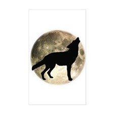 Coyote Howl Moon Rectangle Decal