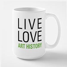 Live Love Art History Large Mug