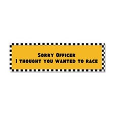Sorry Officer Car Magnet 10 X 3