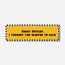 Sorry Officer Car Magnet 10 X 3