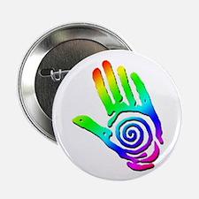Rainbow Petroglyph Hand Button