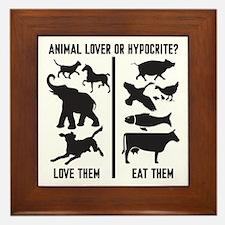Animal Lover or Hypocrite? Framed Tile